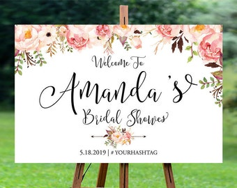 Bridal Shower sign, Bridal Shower decoration, Bridal Shower Welcome Sign, bridal shower, shower sign, Bridal Shower sign - US_BS0102b