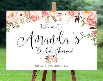 Bridal Shower sign, Bridal Shower decoration, Bridal Shower Welcome Sign, bridal shower, shower sign, Bridal Shower sign - US_BS0102b