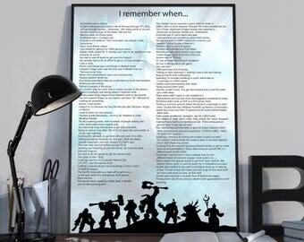 Nostalgia Poster - I remember when... Classic WoW