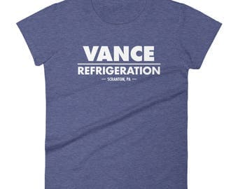 Vance Refrigeration - Women's short sleeve t-shirt - Funny, The Office, Dwight Schrute, Bob Vance, Michael Scott