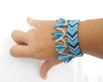 "Bracelet friendship chevron ""tassels"""