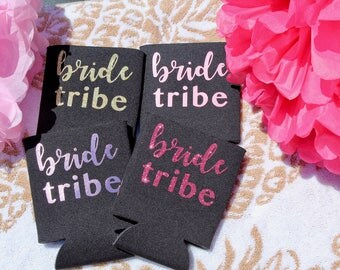 Bride Tribe Bridesmaid Can Cooler - Various Color Options