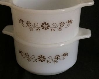 """Dynaware Duo of Bowls! Vintage, Pyr-O-Rey, 4.5 x 2"""""""