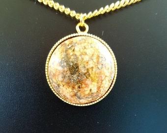 Polished Pink Granite Necklace