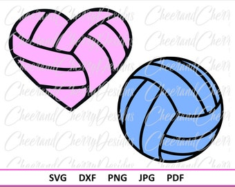 Volleyball Heart SVG Volleyball Svg design Volleyball Heart DXF Volleyball DXF Volleyball Monogram svg Sport svg Silhouette svg file Cricut
