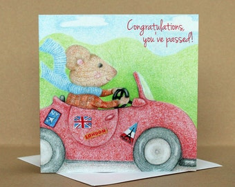 Congratulations, You've Passed! Driving Test Card