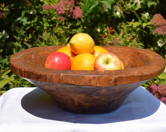 Large,hand carved,wooden bowl,large bowl,caved wood,vintage,home decor,fruit bowl,vintage fruit bowl,fruit,handmade,serving bowl,gift,ooak