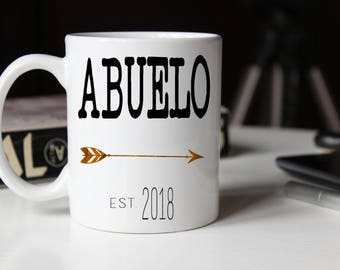 Abuelo Mug, Gift for new Abuelo, Grandparents gift, Grandpa Mug, Pregnancy Reveal, Gift for Grandpa, Baby Announcement, Fathers Day Mug
