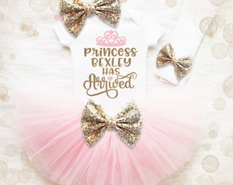 Coming Home Outfit Baby Girl | Daddy's Princess Has Arrived | Baby Shower Gift | Daddy Shirt | Baby Girl Gift | Baby Girl Hospital Outfit