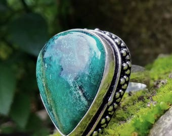 Ring picturesque size 59 or 9 US, mediums and lights stone