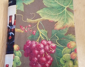 Wine Journal , Art Journal, Journal from a wine magazine