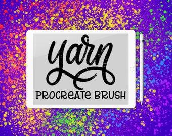 Yarn - Lettering Brush for Procreate App