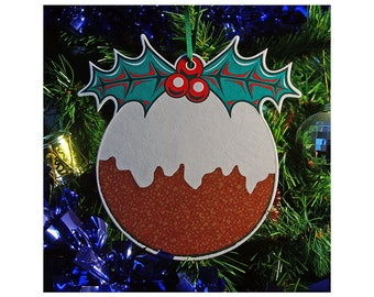 Christmas Pudding Gift Card