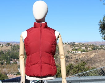 Red Down Puffy Vest