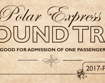Print at Home Polar Express Novelty Tickets