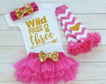 Third Birthday Outfit Girl, 3rd Birthday Shirt, 3rd Birthday Girl Outfit, Tutu Skirt, Birthday Gift, Third Birthday Girl Shirt, 3rd Birthday