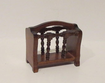 Miniature Dollhouse Magazine Rack 1:12 Scale