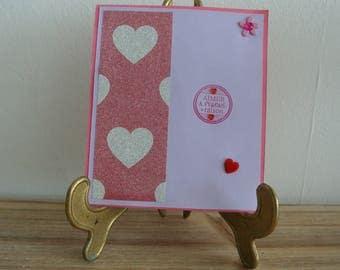 Card - Card Valentine's day - wedding card - love in mind, heart