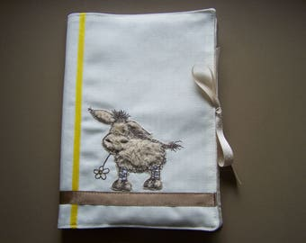 "Customize health book ""P"" little donkey """
