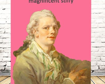 Bawdy Banter - most magnificent stiffy - naughty birthday card greetings