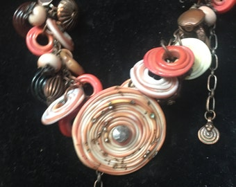 Custom one of a kind glass bead necklace