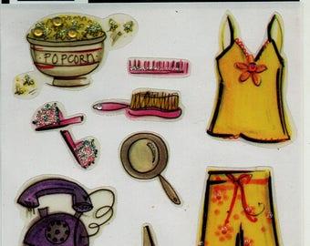 Teenage Girl Magic Scraps Scrapbook Stickers Embellishments Cardmaking Crafts