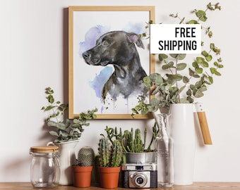Custom pet portrait, custom dog portrait , Watercolour  Custom pet art. Christmas gift. Portrait from photo