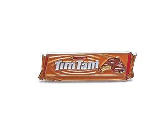 CARAMEL TIMTAMS Enamel Pin Australian