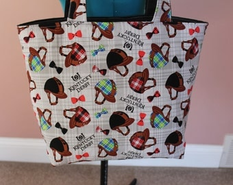Gray Kentucky Derby Tote bag