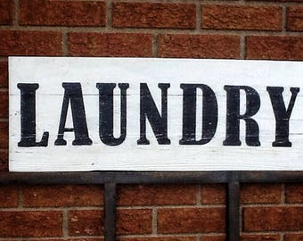 Rustic Laundry Sign Rustic Laundry Sign  Etsy