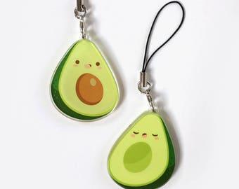 Avocado Double Sided Cute Food Charm