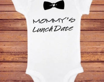 Mommy's Lunch Date or Mommy's Breastfriend Bodysuit/breastfeeding/breastfeeding onesie/breastfeeding humor