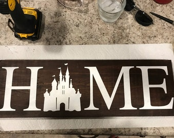 Castle Home Sign