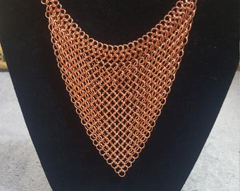 Rose Gold Chainmaille Choker, Chainmail Necklace, European 4-in-1 Chainmail, Goth Chainmail, Statement Necklace, Customizable, Drape Chains