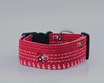 Red Farming Dog Collar