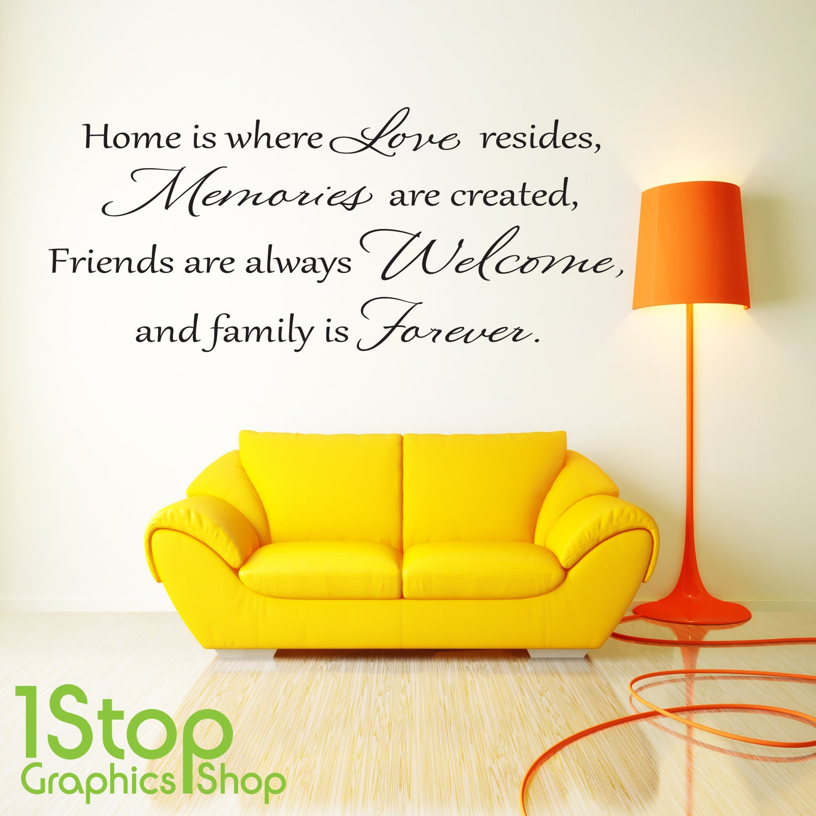 Love Memories Wall Sticker Quote - Home Bedroom Lounge Wall Art ...