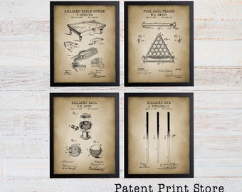 Billiards Patent Prints. Billiards Poster. Billiard Room Art. Billiard Room Decor. Pool Room Art Prints. Billiards Art. Pool Table. 274