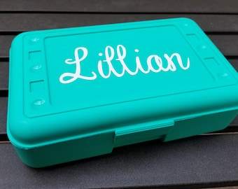 Personalized Pencil Box- Crayon Box, Pencil Holder, Pencil Box Name, School Supplies box, First Day Back to School, Personalized kids Gift