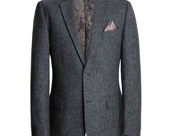 Classic Charcoal Tweed Sports Blazer