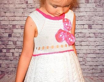 Crochet nice dress for girl, MADE BY ORDER