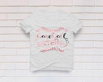 Baseball sister svg, Baseball svg, Softball svg, Baseball sister shirt, Baseball mom svg, Cricut, Cameo, Clipart, Svg, DXF, Png, Pdf, Eps .