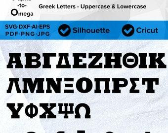 Greek Letters Fraternity Sorority College Graduation University Varsity SVG Cut File, DXF, Png, Eps, Pdf, Ai, Cricut, Silhouette Studio