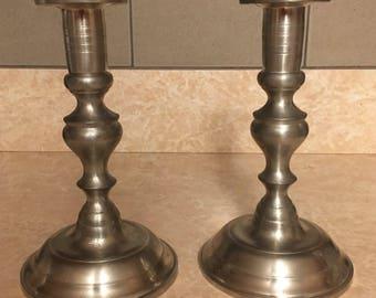 Woodbury Pewter Candle Holders - Set of 2