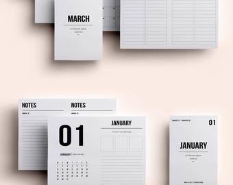 Passport TN Insert | Passport TN Printable | Passport TN Printable Insert | Passport Insert January - March 2018