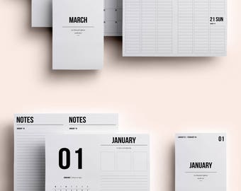 B6 TN Insert | B6 TN Printable | B6 Insert Printable January - March 2018