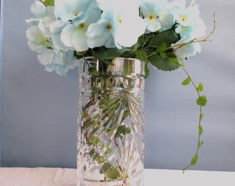 Vintage Waterford Crystal Vase ~ FREE SHIPPING!  ~ Beautiful Clear, Vintage, 8 inch Vase