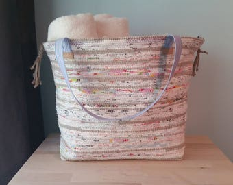 Large Rag Rug Tote Bag