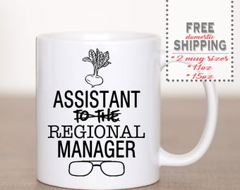 Assistant Regional Manager Coffee Mug - Dwight Schrute - The Office Mug - Custom Coffee Mug