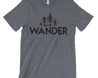 Wander Trees National Parks Adventure Unisex Bella Canvas Tshirt