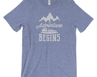 The Adventure Begins Unisex Bella Canvas Tee
